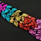 "4"" Metallic Mermaid Scale Gator Clip Bows 24 per pk  .28 ea"