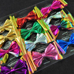 "4"" 2 Layer Metallic Color Gator Clip Bows New Design  .49 ea"