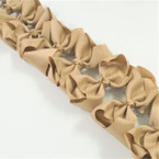 "3.50"" All Khaki School Color Gator Clip Fashion Bow .27 ea"