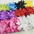 "5"" DBL Flower Jaw Clip Bows w/ Glitter Asst Colors  .56 each"