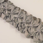 "3.50"" All Gray Color Gator Clip Fashion Bow .27 ea"