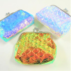 "3"" Change Color Snap Closure Coin Purse Mermaid Theme .56 ea"
