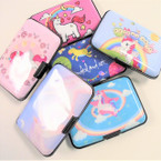 "3"" X 4"" Hard  Case Card Caddy Wallet Unicorn Theme 12 per unit .95 ea pc"