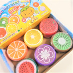"3"" Round Fruit Theme Crystal Putty 12 per box .55 each"