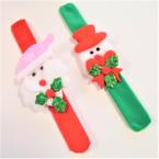 2 Style Fury Christmas Theme Slap Bracelets .58 each