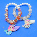 2 Style Mermaid Theme Fashion Bracelets w/ Tassel .56 each