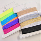 6 Pk Shiny Elastic Ponytailers/Bracelets 2 color groups .54 per set