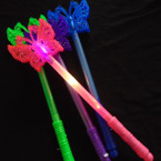 "14"" Multi Function Light Up Butterfly Stick Asst Colors .65 each"