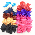 "4"" Multi Loop Gator Clip Bows Mixed Colors 24 per pk .27 each"