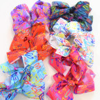 "5"" New Heart Pattern Gator Clip Bows Asst Colors .54 ea"