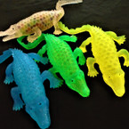 "10"" Asst Color Squishy Bead Alligators 12 per display bx $ 1.16 ea"