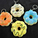 "3"" Squishy Scented Glazed Sprinkled Donut Keychains .60 each"