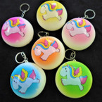 "3"" X 1.5"" Puffy  Squishy Scented Unicorn Keychains .65 each"