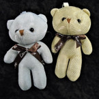 "5"" Gold & Silver Sparkle Plush Bears w/ Love Ribbons  .58 each"