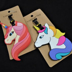 "4"" Durable 2 Style  Unicorn Luggage Tags 12 per pk .56 each"