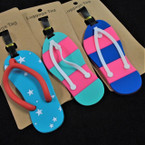 "5"" Durable Flip Flop Luggage Tags 12 per pk .56 each"