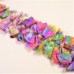 "5"" Metallic Print Gator Clip Bows w/ Crystal Stones .54 ea"