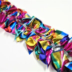 "5"" 2 Layer Metallic Gator Clip Bows w/ Crystal Stones  .54 ea"