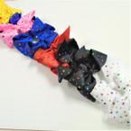 """5"""" Asst Color Tail Gator Clip Bows w/ Multi Color Stones .54 each"""