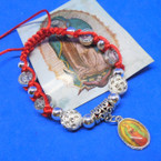 Red Macrame Bracelets w/ Guadalupe Charm  .54 each
