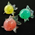 "3"" Fish Mesh Beaded Squish Balls  12 per display bx .58 ea"
