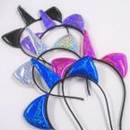 Metallic Mermaid Scale Headbands Cats Ear & Unicorn Theme .56 ea