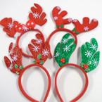 4 Style Christmas Reindeer Novelty Headbands  .60 ea
