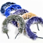 Multi Tone Fury Style Fashion Headbands Winter  Colors .60 ea