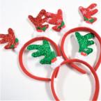 3 Style Christmas Reindeer Novelty Headbands  .60 ea