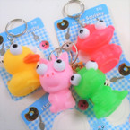 """2"""" Squishy Keychains Eye's Pop Out Asst Styles .54 ea"""