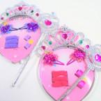 Jeweled Girl's Headband/Wand Set w/ Hair Accessory .56 per set