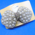 "3"" Pearl & Crystal Stone Fashion Barrettes  .54 ea"