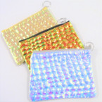 "4"" X 6"" Change Color Mermaid Style Zipper Coin Purse w/ Keychain .58 ea"