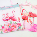 "10"" X 13"" Flamingo Theme Heavy Duty Gift Bags .58 each"