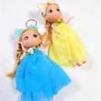 "Big 6"" Fashion Doll Keychains w/ Poka Dot Bow Asst Colors  .58 ea"