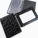 All Black Snake Skin Look Credit Card Holder w/ ID Section .54 ea