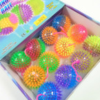 "3"" Spikey Two Tone Flashing Squeakie  Ball w/  YoYo's 12 per bx .58 each"