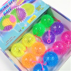 "3"" Spikey Neon Color  Flashing Squeakie  Ball w/  YoYo's 12 per bx .58 each"