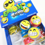 "2"" Emoji Theme Light Up YoYo's 12 per display bx .56 each"