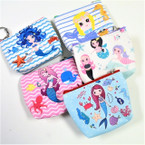 "Very Cute 4"" Mermaid Theme Zipper Coin Purse w/ Keychain .56 each"