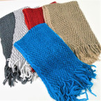 Neck Tunnel Scarves Asst Color w/ Fringe 12 per pk $ 1.10 ea