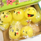 "2.5"" Emoji Theme Bead Squishy Balls All Yellow 12 per display .58 each"