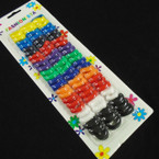 72 Pack Asst Color Pony Oh Rings .54 each set
