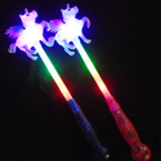 "15 "" Flashing 3 Function Unicorn Wands  12 per pk .95 each"