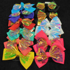 "5"" 2 Layer Gator Clip Bows Solid/Shiney Metallic Asst Colors .54 each"
