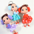 "5""  Winter Theme Doll Keychains Asst Colors w/ Ear Muffs  .56 each"