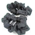 3 Pack All Black Color Cotton Hair Twisters .54 per set
