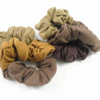3 Pack Mixed Brown Tones Cotton Hair Twisters .54 per set