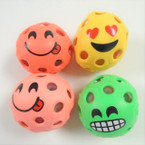 "2.5"" Asst Color Emoji Theme Squish Bead Balls 12 per display .62 each"