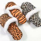 "8"" Animal Print Squeaky Sound Slipper Dog Toy   12 per pk .85 ea"